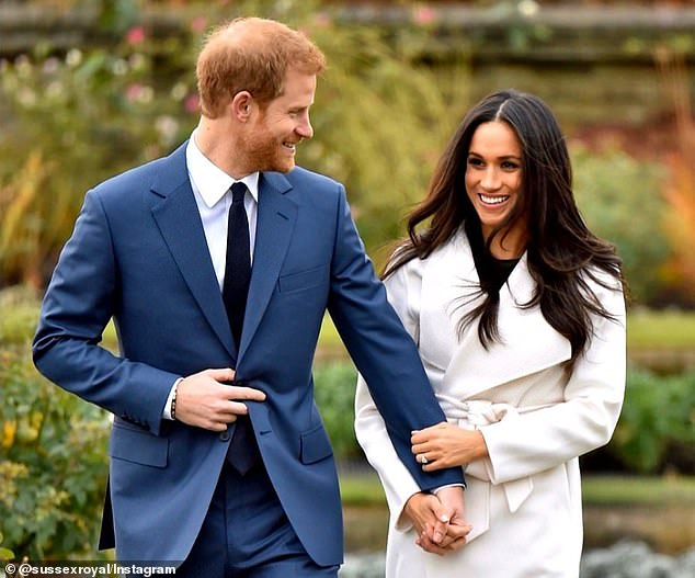 Prince Harry and Meghan Markle announce their engagement in London inNovember 2017