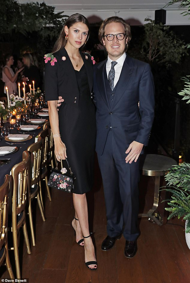 Two society beauties became engaged over the festive season. The first is Tatler cover girl and illustrator Sabrina Percy, 29, who got engaged on Christmas Day to the genial Phineas Page (pictured), 37, whose family co-owns restaurant chains Franco Manca and The Real Greek