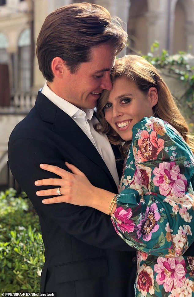 Princess Beatrice and Edoardo shared this sweet photo, taken by Eugenie, to announce their engagement in September last year. It is not known where or when the wedding will be held