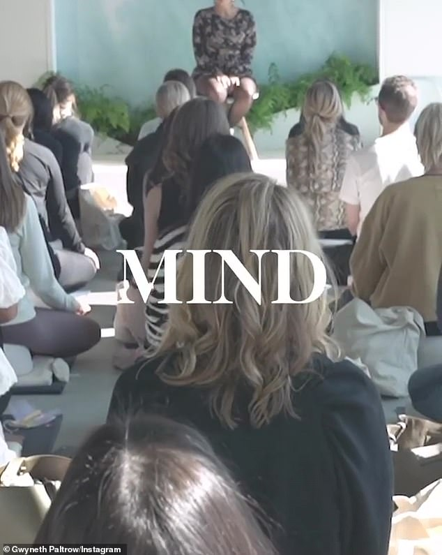 Subsequent images show various wellness activities including spa time and yoga class shown underneath the phrases 'Mind'...