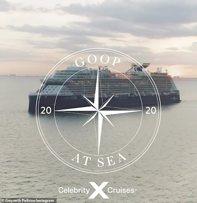 Cruisin' with GP: The announcement came with an enticing video showing a cruise ship at sea along with various wellness classes and activities posted to Paltrow personal Instagram