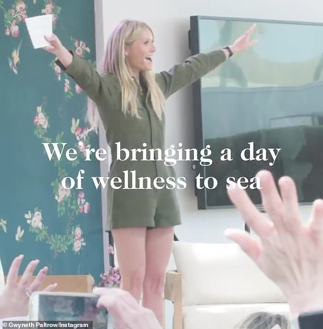 Captain Gwyneth:Goop founder Gwyneth Paltrow launched a partnership with Celebrity Cruises Thursday, with a video announcing that the brand is 'bringing a day of wellness to sea'