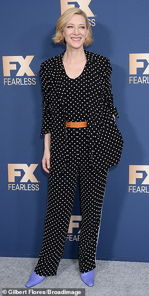 Cate Blanchett brought her style to the FX TCA Winter Press Tour in Pasadena on Thursday
