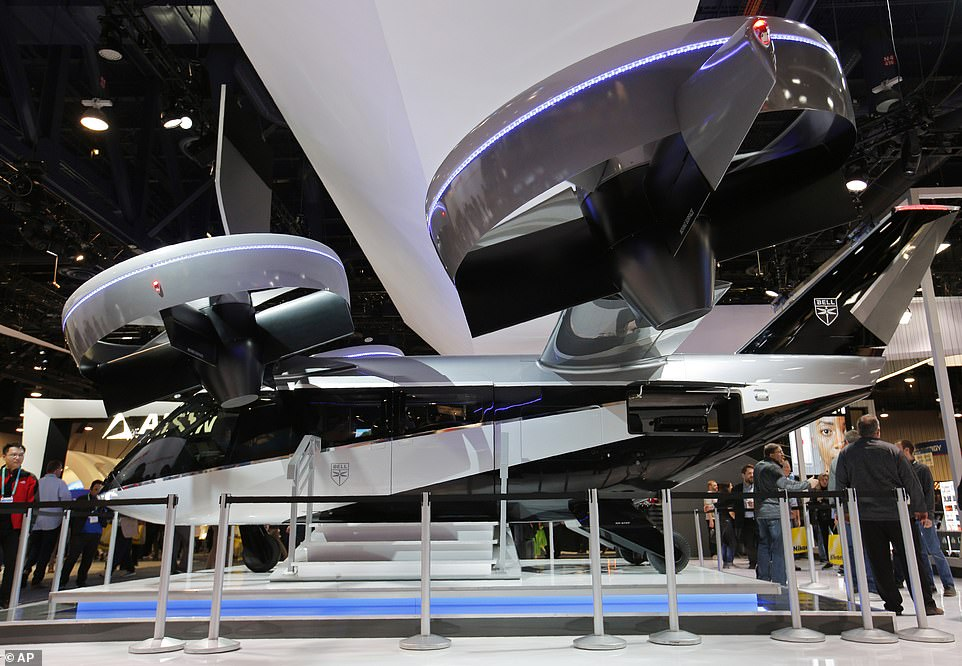 Bell also brought its flying taxi back for another go at the event, but this redesigned model boasts a larger wing than its predecessor that made an appearance in 2019. The new craft can carry up to five passengers for 60 miles at a speed of around 150 miles per hour – and could take off in the next five years