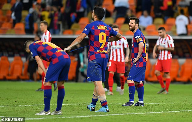 The Spanish giants fell to defeat Atletico Madrid in the Spanish Super Cup on Thursday