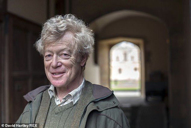 Sir Roger Scruton's personal website said: 'It is with great sadness that we announce the death of Sir Roger Scruton, FBA, FRSL' (pictured: Sir Roger Scruton at the FT Weekend Oxford Literary festival, Oxfordshire in 2014)