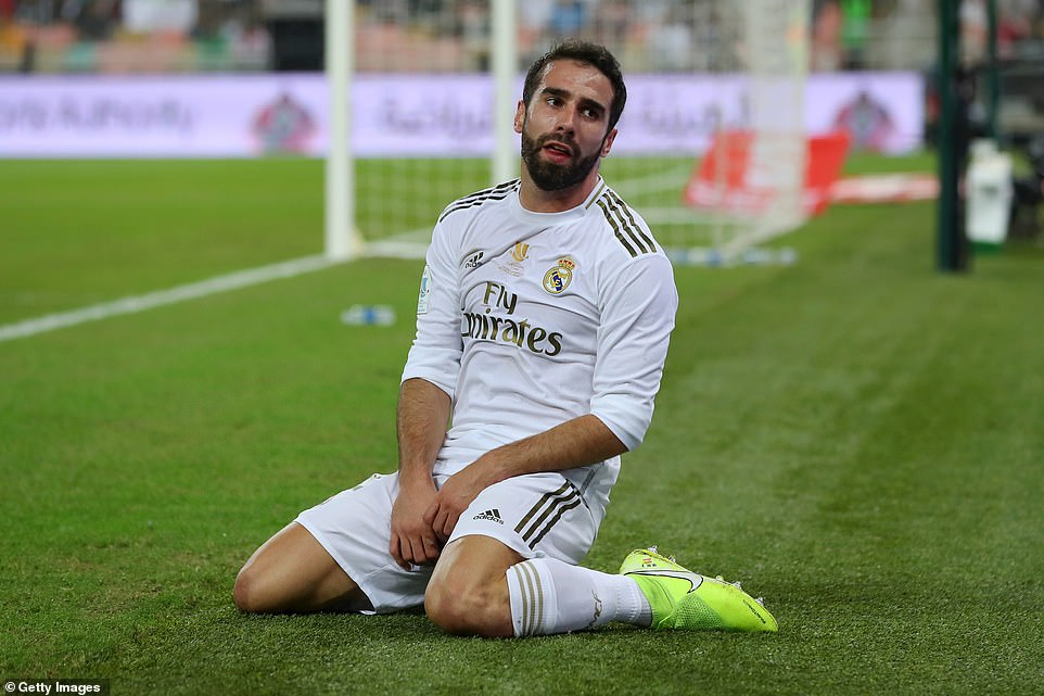 Real Madrid's Isco reacts after a missed opportunity meant that his team did not rise 1-0 in the Super Cup final