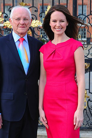 Dickie Arbiter, former press secretary of SM The Queen with his daughter Victoria Arbiter