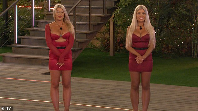 See double: the drama began on Monday night's show when the bomb twins were forced to join, which means that two women would be vulnerable