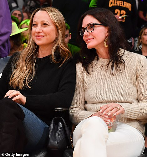 Close bond: Jennifer, who is the ex-wife of actor Tobey Maguire, and Courtney enjoyed a catch up