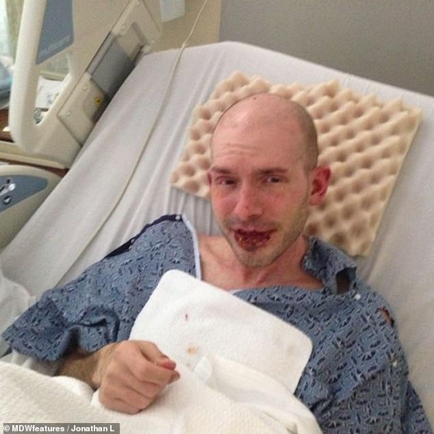 Within a month of taking antidepressants, the 38-year-old (recovering in hospital) was suffering flu-like symptoms and his eyes became so sore it felt as through 'glass was piercing them'