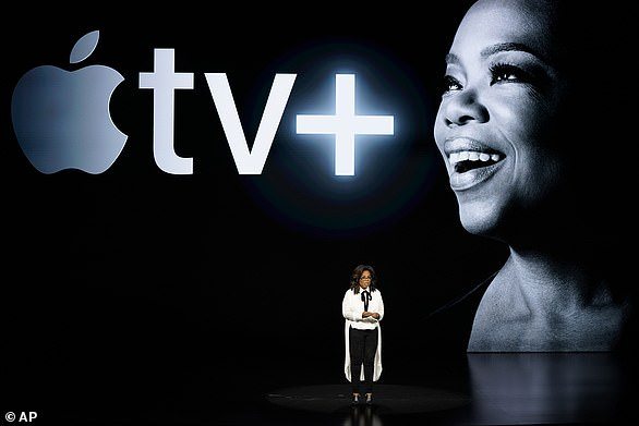 In the game: Harry has already teamed up with Oprah to create a multi-part documentary series about mental health that will air on the Apple TV platform this year