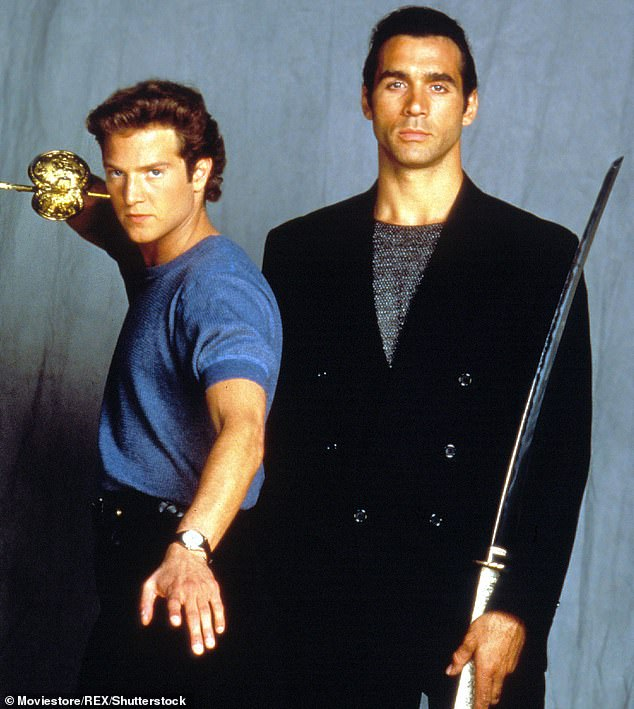 Mountain actor Stan Kirsch (left with Adrian Paul) died at 51 on Saturday after taking his own life at his home in Los Angeles.