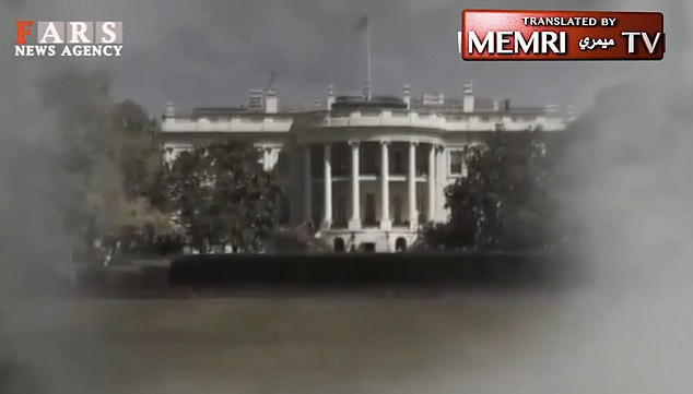 The footage also showed images of the White House which were later shown attached