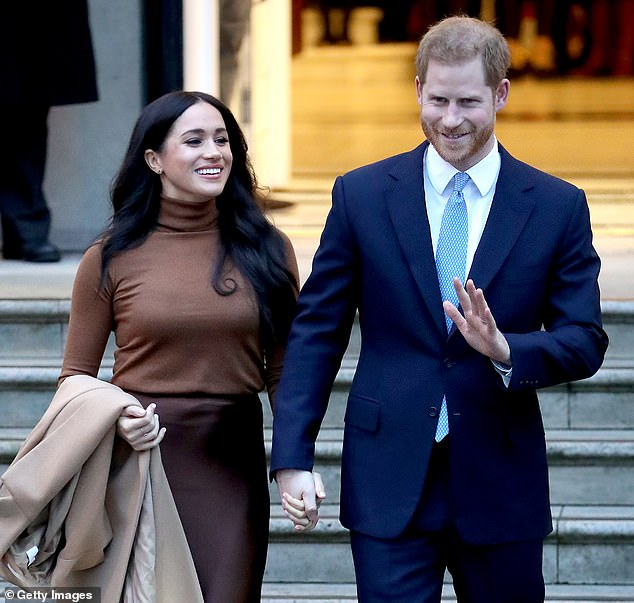 The Duke and Duchess of Sussex (pictured in London last week) made the claim on their website Sussexroyal.com when it launched last Wednesday.But the phrase was later deleted