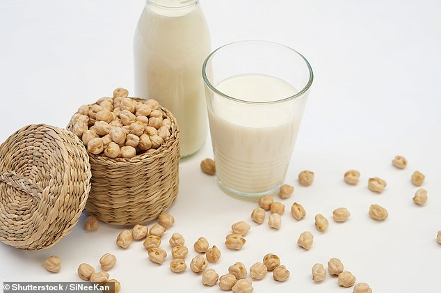 Flic would eat things such as chick peas (above) and soya milk in order to adhere to the vegan diet