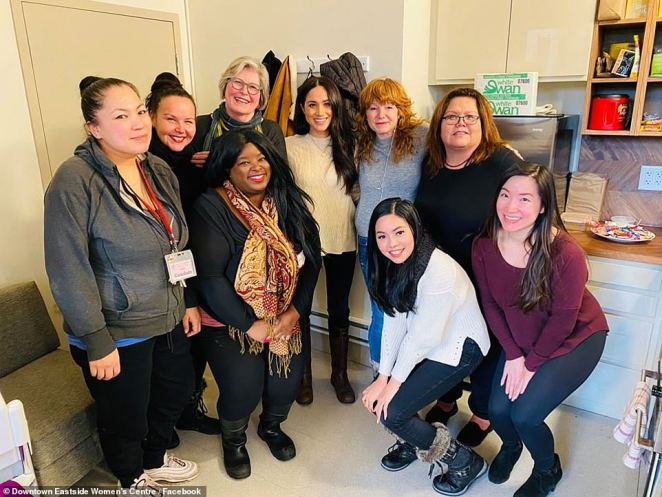 The Duchess of Sussex met with managers at the Downtown Eastside Women's Centre in Vancouver where she met with managers to discuss what the women who sought assistance there need in support