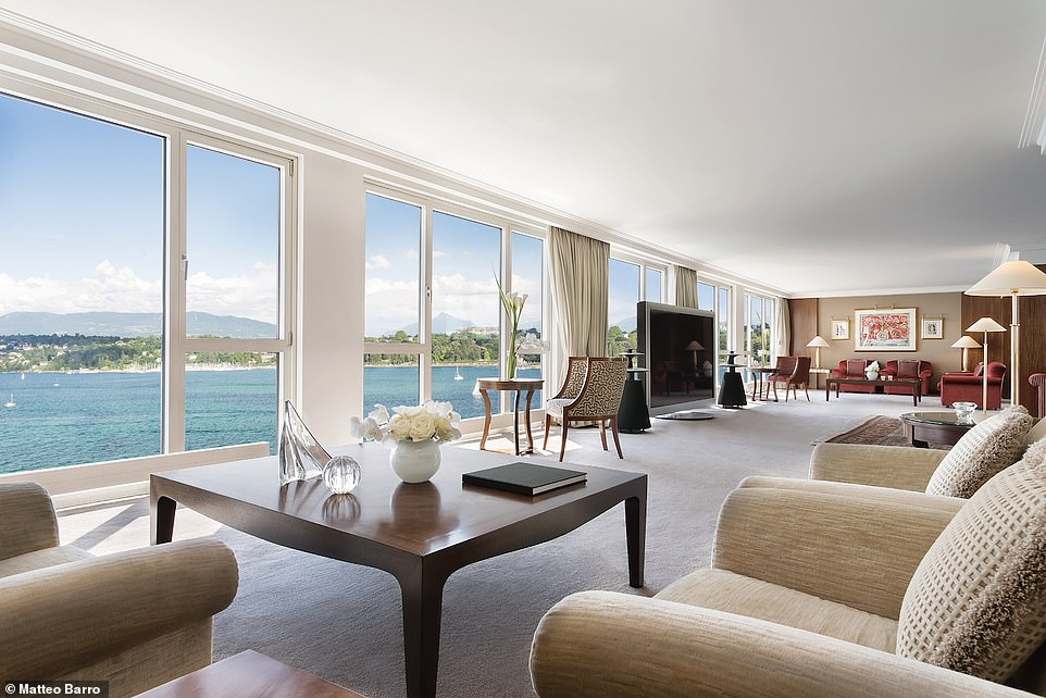 Stays at the Royal Penthouse Suite in Hotel President Wilson in Geneva, Switzerland, are $81,000 (£62,000) per night. It spans18,000 square feet and boasts 12 bedrooms