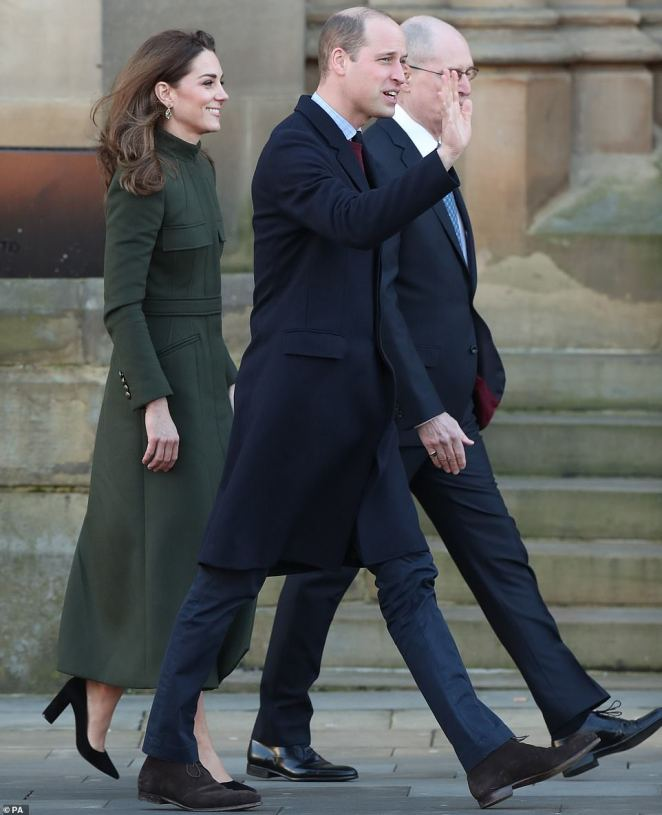 The Duke and Duchess arrive for a visit to Bradford today to join a group of young people from across the community