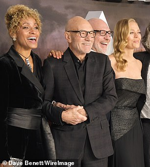 Sweet: Michelle put her hand on Sir Patrick's shoulder in support