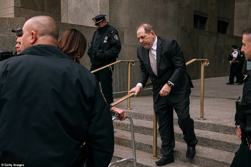 Weinstein departs New York Criminal Court amid his ongoing rape and sexual assault trial on January 13