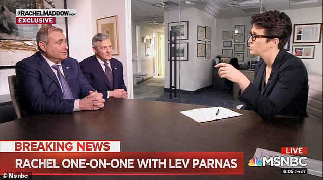 Parnas and his lawyer Joseph Bondy spoke to MSNBC's Rachel Maddow in an interview aired Wednesday night