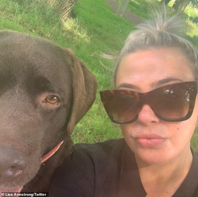 Shared custody: The former couple will share custody of their pet Labrador, Hurley