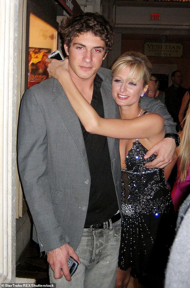 Brief adventure: Stavros' most prominent romance to date was with the 38-year-old Paris Hilton, with whom he dated from late 2005 until March 2007