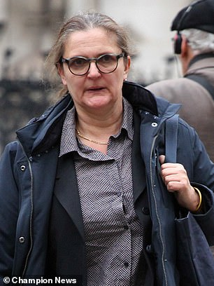 Gardener Nicola Lesbirel outside Central London County Court