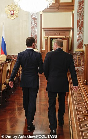 Medvedev has been in lock-step with Putin ever since, swapping power with the president between 2008 and 2012 in order to skirt around term limits