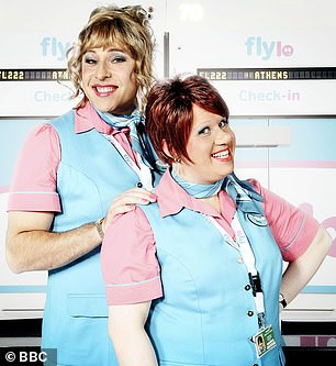 The largely forgotten BBC One sitcom Come Fly With Me is at number 14