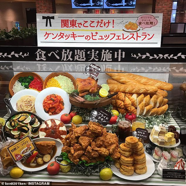 Thousands of hungry diners are flocking to Japan to dine at all-you-can-eat KFC