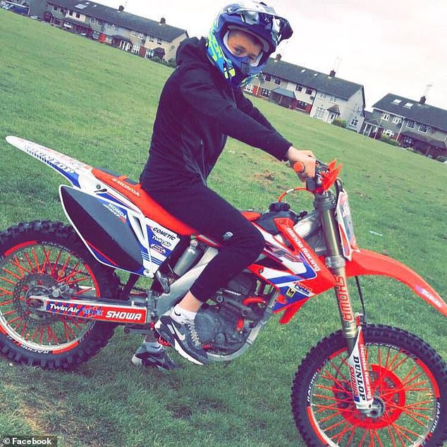 Mulready-Woods on a motocross bike.Yesterday, gardaí strongly criticised the circulation of images and footage on social media purporting to be linked to the 17- year-old's murder