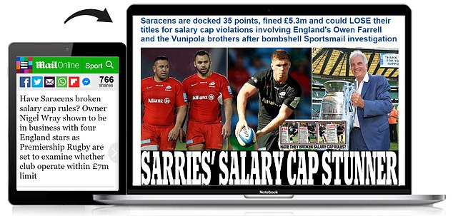 The news of Saracens' salary cap scandal has led the news agenda for the last 10 months