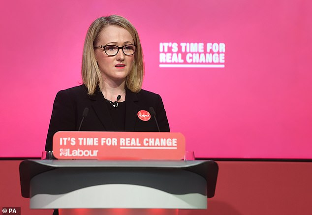 The signals emerged as Ms Long-Bailey (pictured during the election campaign) formally launches her campaign with a swipe at Sir Keir
