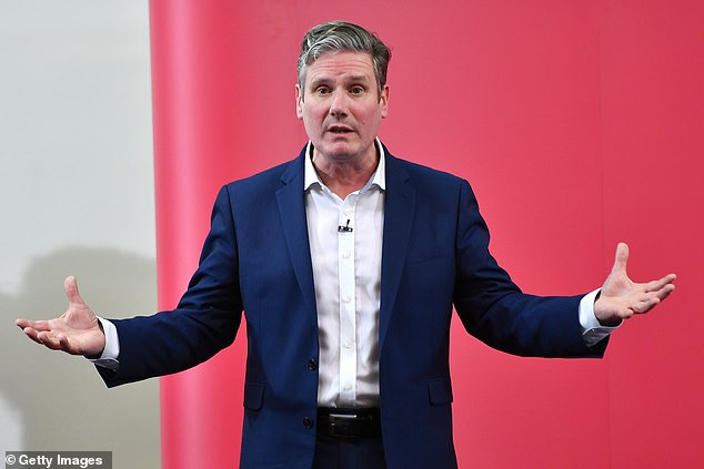 A senior backer of shadow Brexit secretary Sir Keir Starmer (pictured) said he would be unlikely to install Rebecca Long-Bailey in the crucial post of shadow chancellor