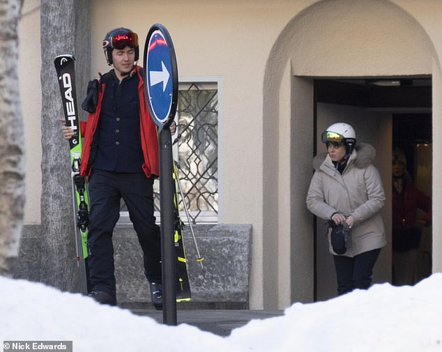 Princess Beatrice arrives in St. Moritz for Dasha Zhukova's wedding with Stavros Niarchos
