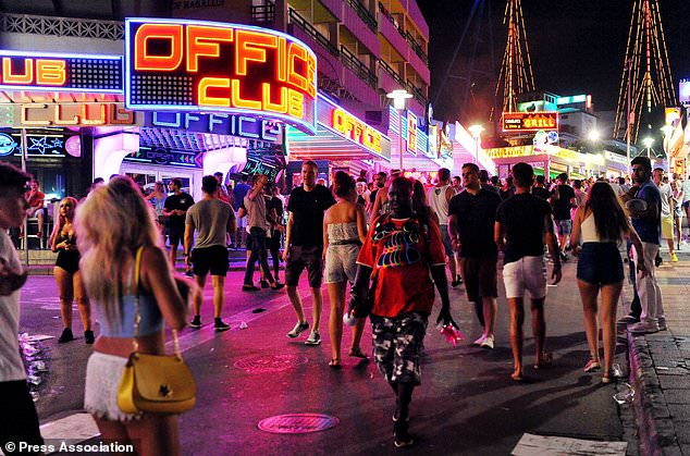 Crackdown will affect Magaluf, Majorca, the West End area of Ibiza and a long stretch of the regional capital Palma. (Stock image)