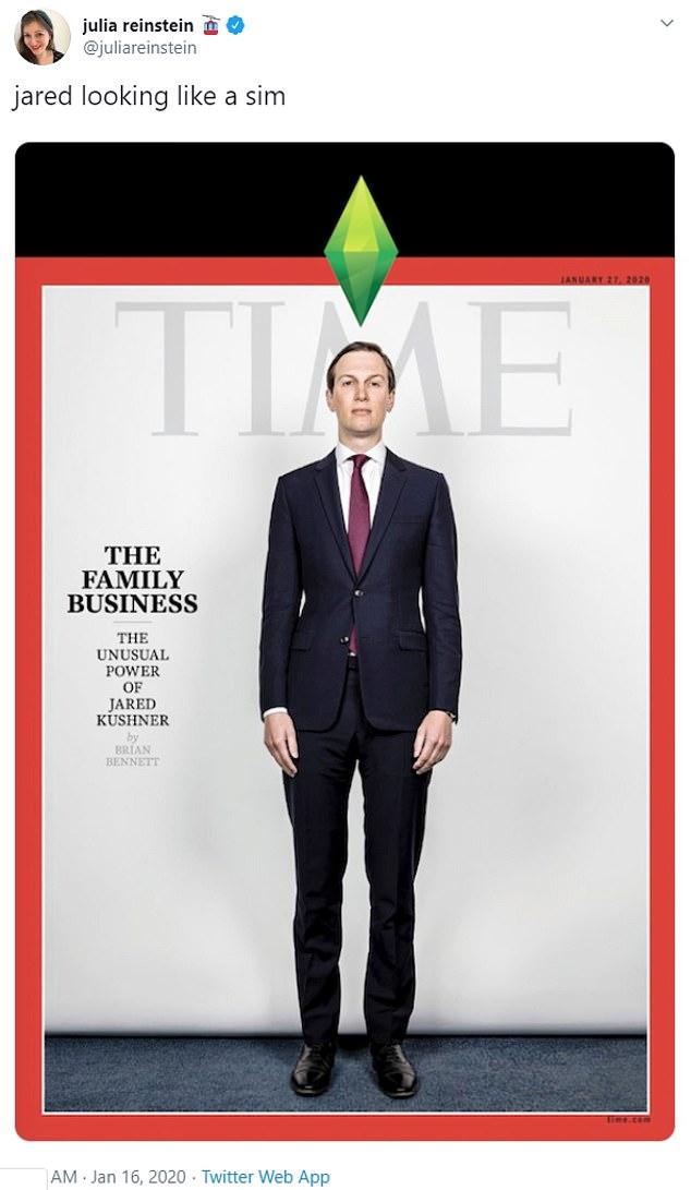 'Jared looking like a sim,' shared Buzzfeed's Julia Reinstein
