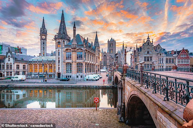 Picture perfect: The charming Belgian city of Ghent, whichwill catch the world's attention this year as it celebrates the genius of artist Jan van Eyck