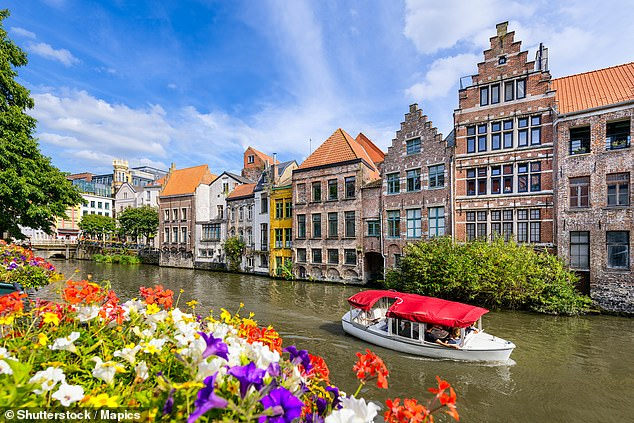 Ghent, pictured, isBelgium's second largest city and has the largest pedestrian-friendly area in Europe