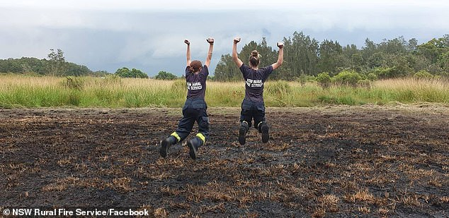 1500 NSW volunteer firefighters out battling blazes on Saturday rejoiced in the rain which has helped them put out 49 fires since last Saturday. While far south coast firegrounds may have missed out, this is forecast to change with a new rain system coming through on Monday