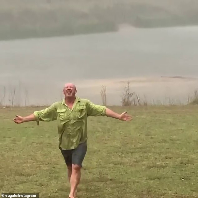 Like champagne from heaven for farmers: the rains brought drought relief over large areas of New South Wales with more forecast to fall until Monday