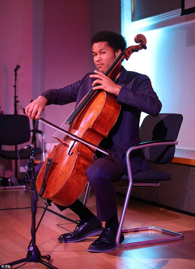 Sheku Kanneh-Mason (pictured above) has set a new record as he is now the highest-charting cellist of all time in the UK