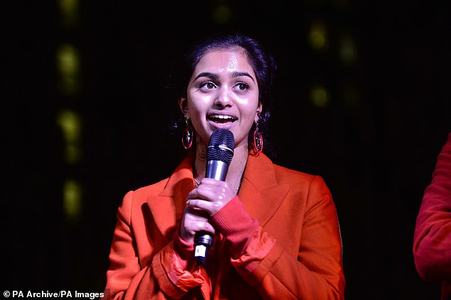 Amika George, 20, founder of the FreePeriods campaign group, said:'For the first time in history, this scheme will ensure that becomes a reality'