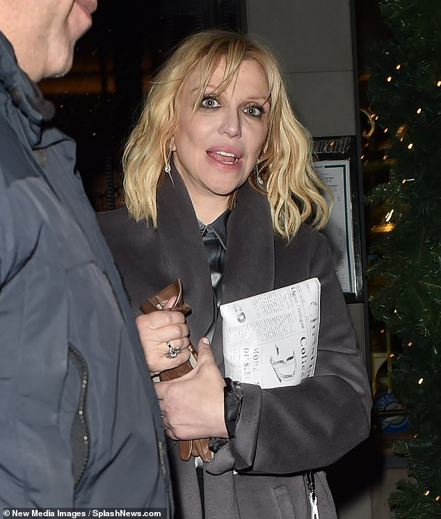 Looking good:Courtney Love made a stylish exit from the Dior Homme Menswear show afterparty in Paris, France on Friday