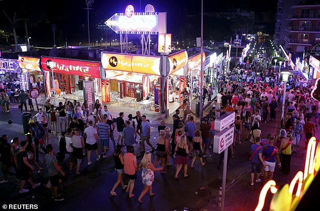 Hotels will be forced to expel holidaymakers that leap from balconies under the measures, and could face £510,000 fines and three-year closures if they do not comply. (Magaluf in 2015)