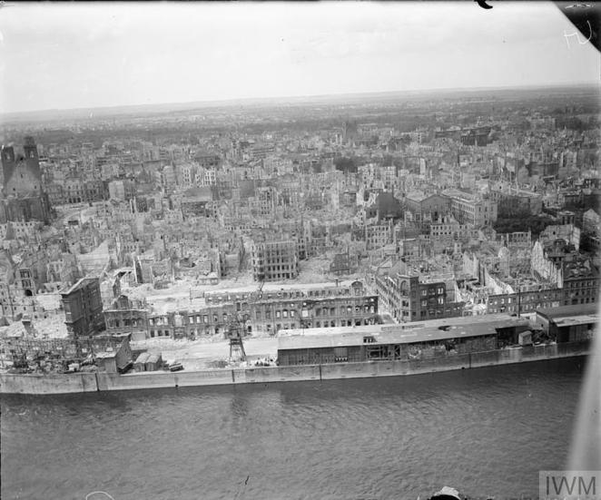 Magdeburg suffered severe damage in the 1945 RAF bombing raid where the death toll was around 2,500 people