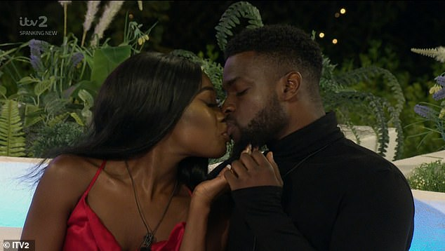 Romance: Mike is currently partnered up withLeanne Amaning, 22, on the show (the two pictured kissing)