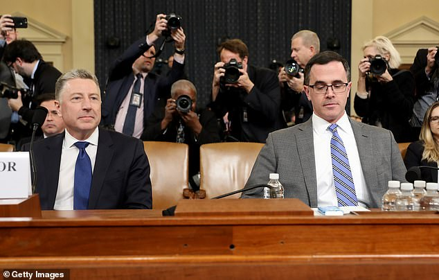 Peekreplaced Tim Morrison (right), who left the position after testifying in the House impeachment inquiry